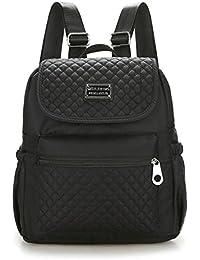 Women Nylon Shoulder Bags, Veriya Lightweight Waterproof Casual Travel School Backpack Rucksack Student Schoolbag Multipurpose Daypack for Teenager Ladies --Large Capacity