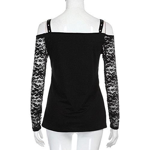 HKFV -  Camicia da notte  - Donna Red S