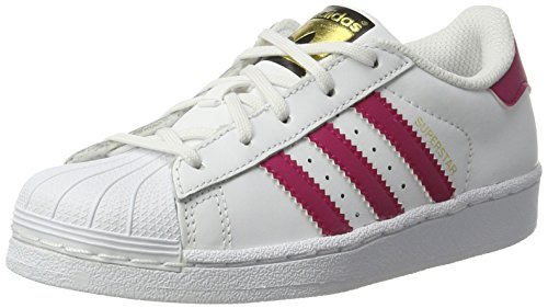 adidas Kinder-Unisex Superstar Foundation Basketballschuhe, Multicolore (Ftwwht/Bold Pink/Ftwr White)