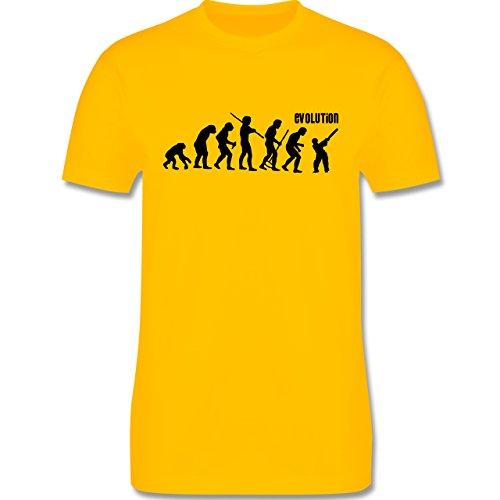 Evolution - Cricket Evolution - Herren Premium T-Shirt Gelb