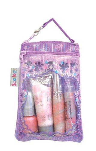 Lip Smacker Glam It Up Gift Set contains Lip Gloss/ Lip Squeezy/ Lip Balm/ Nail Polish/ Bag