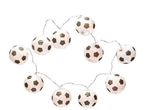 Amsinck LED Fußballkette mit 10 Lampions, ca. 1,9 m 54195