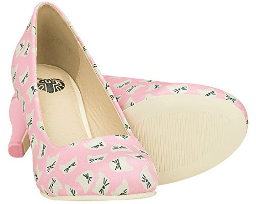 Zapatos Tuk Mujeres Pink Kitty Galore Antipop Heel Pink