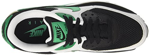 NIKE Air Max 90Essential, Messieurs Sneakers Noir (Black/Stadium Green-Pure Platinum-White)