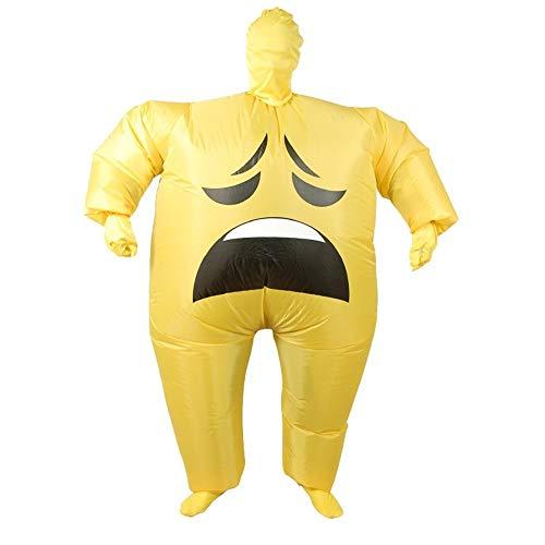 icht Emoji Kostüm Für Erwachsene Cosplay Kleidung Funny Smile Cry Face Ganzkörper Purim Karneval Halloween Party Kostüme (Farbe : A) ()