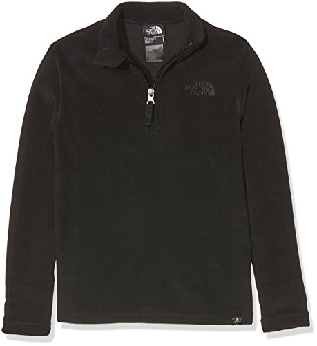 The North Face Kinder (Junior) Y Glacier 1/4 Zip (Recycled) Fleece-Pullover, Tnf Black, XS Glacier 1/4 Zip Pullover Fleece