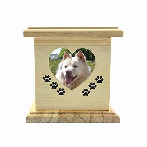 LIZONGFQ Massivholz & Handgefertigt Mit Fotorahmen Hund Katze Haustier Sarg Tier Sarg Gedenken Der Sarg Box Aus Holz Haustier Feuerbestattung Urne (Tier-sarg)
