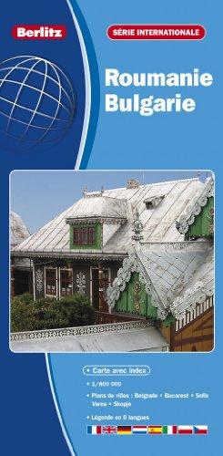 Roumanie, Bulgarie - Carte Routière et Touristique