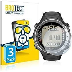 3X BROTECT Premium AirGlass Film de Protection en Verre pour Suunto D4I (extrêmement résistant, Ultra-Fin, Haute Transparence, revêtement Anti-Traces de Doigts, Application sans Bulles d'air)
