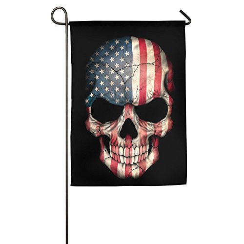 American Flagge Sugar Skull Home Flagge Garden Party Flagge Tag 30,5x 45,7cm 1827Polyester, Polyester, weiß, 46*69 cm