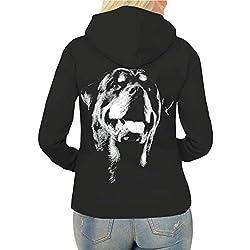 Spaß kostet Frauen und Damen Kapuzenjacke Rottweiler BOSS (mit Rückendruck)