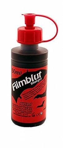 Eulenspiegel Profi-Schminkfarben Filmblut/Blutgel hell 1er Pack (1 x 50 ml) (Kostüm Maskenbildner)