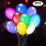 Yunfan 50Pz Palloncini LED Colorati Palloncini Luminosi Luce LED 30cm per Decorazione Festa Party Matrimonio Compleanno Decorazione Regalini Fine Festa Bambini ECC