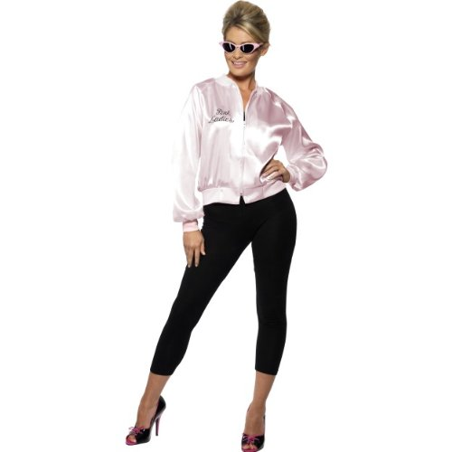 Gemz Fancy Dress Pink Lady Jacket, For Grease - Small