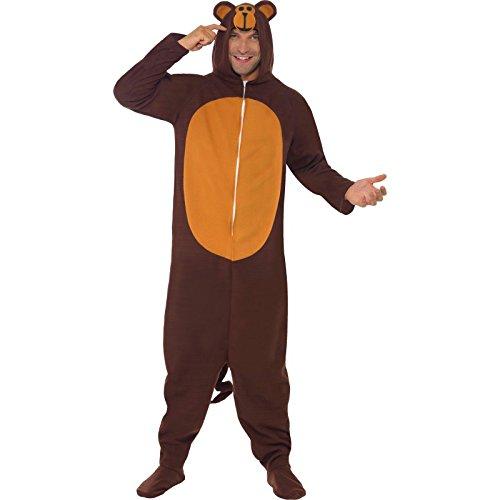 n Kostüm, All-in-One mit Kapuze, Größe: L, 23633 (Herren Affe Kostüm)