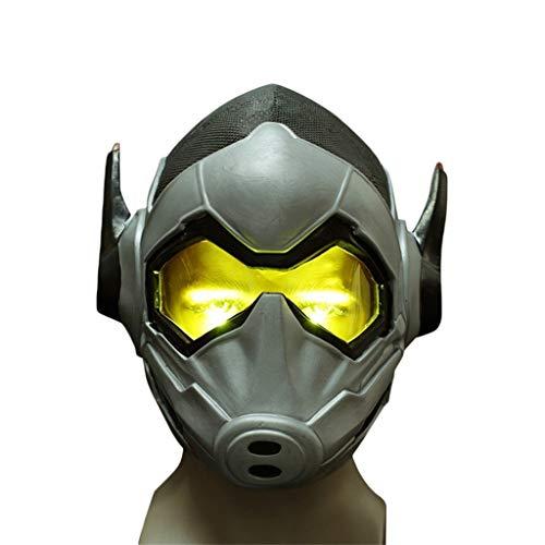 GanSouy Wasp Helm, Ant-Man und die Wasp, Wasp Maske Glowing Maske Cosplay Halloween Superheld Helm für Damen und Herren,Wasp Helmet-53~62cm. (Avengers Wasp Kostüm)