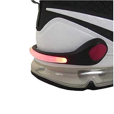 LED Schuhclip rot / Reflektor LED / Schuhlicht Leuchte in rot für Schuhe - Für Ihre Sicherheit und Ihrer Kinder im Straßenverkehr Joggen , Radfahren , auf dem Schulweg - Schuhclip mit rotem LED Licht