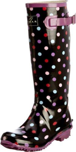 Lunar - Dollshouse, Stivali di gomma Donna Nero (Schwarz (Black/Multi Spot))