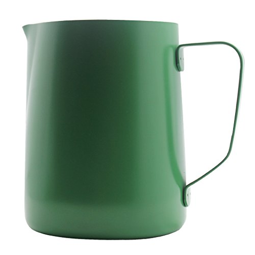 SIPLIV 20 oz (600 ml) in Acciaio Inox Espresso brocche fumanti Latte schiumare brocca scrematrice Macchiato Cappuccino Latte Art Making brocca in coppetta - Verde