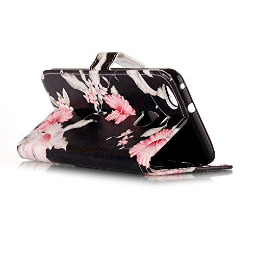 Qiaogle Téléphone Coque - PU Cuir rabat Wallet Housse Case pour Apple iPhone 7 (4.7 Pouce) - YH74 / Dreamcatcher YH72 / Pink Fleur