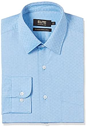 Peter England Men's Formal Shirt (8907495954677_ISF51609916_44_Light Blue with Blue)