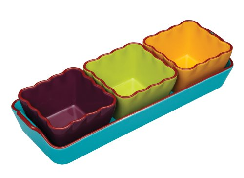 Kitchen Craft World of Flavours Service pour dips mexicains en céramique 4 pièces