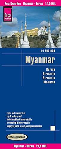 Reise Know-How Landkarte Myanmar (1:1.500.000): world mapping project