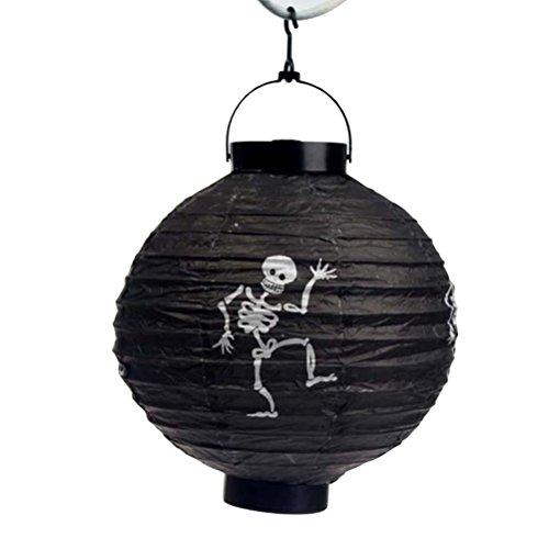 BESTOYARD Halloween Papierlaterne Skeleton LED Laternenlicht für Innen Halloween Partei Dekor im Freien 3PCS