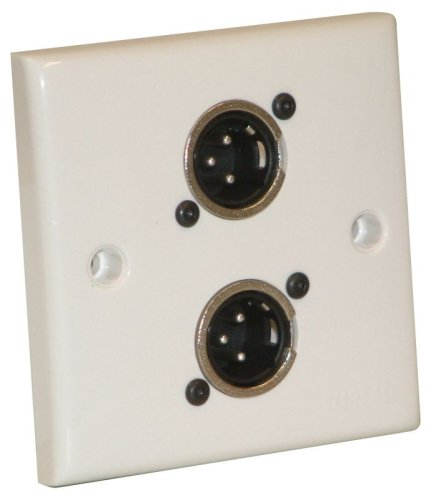 Weiß Single Flush / Surface Mounting Signal Outlet Plate (NC3MDL1) - Coaxial Flush