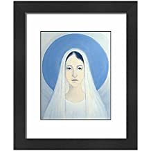 Media Storehouse Framed 10x8 Print of The Virgin Mary, Our Lady of Harpenden, 1993 (oil on panel) (12787061)