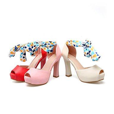 LvYuan Da donna-Sandali-Formale Casual Serata e festa-Club Shoes-Quadrato-Finta pelle-Rosa Rosso Beige Pink