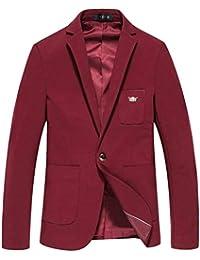 Blazer Herren Slim Fit Weich Men s Bussiness Long Sleeve Anzugjacken One  Button Sakko Blazer Jacket Herrenmode 03c0ed917e