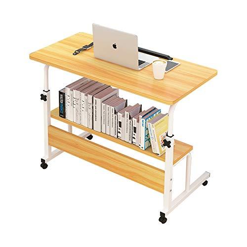 Beistelltisch Snack, Mobiler Couchtisch HöHenverstellbarer Nachttisch Laptop Scroll Cart Lagerregal -