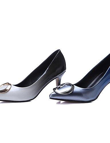 WSS 2016 Chaussures Femme-Bureau & Travail / Habillé / Soirée & Evénement-Blanc / Argent-Talon Aiguille-Talons / Bout Pointu-Talons-Cuir Verni / white-us5.5 / eu36 / uk3.5 / cn35