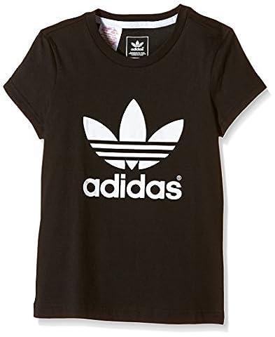 Adidas t-shirt trefoil taille 152 cm (noir/blanc aB4713