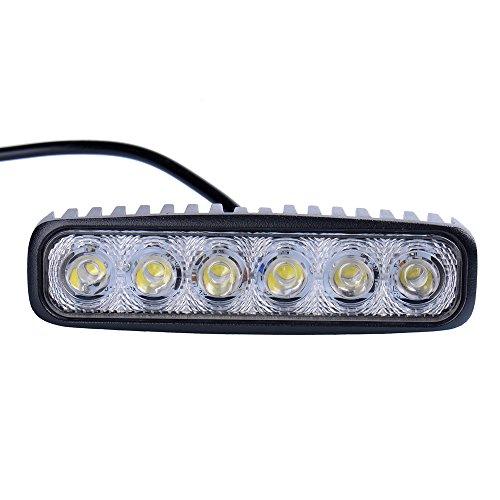 Awhao 8PCS 18W LED Phare de Travail Led Barre Projecteur IP67 Spot Lampe de Voiture 1800LM Blanc Froid