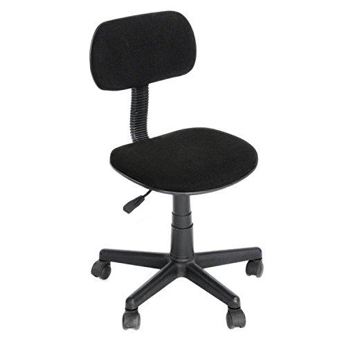 GreenForest Schreibtischstuhl Kinderdrehstuhl für Jungen und Mädchen Stuhl mit drehbarem Rücklehne Schwarz