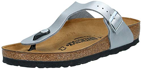 Birkenstock gizeh bs infradito donna, argento, 37 (normale)