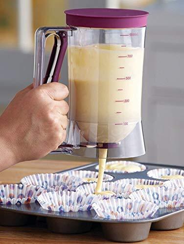 butterme 900ml plástico dispensador de masa de crepes con medición para tartas pequeñas, gofres, tartas, Muffin de mezclar, crepes, Donuts o irgendwelche bollería