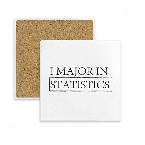 DIYthinker Zitat I Major Statistiken Platz Coaster-Schalen-Becher-Halter Absorbent Stein für Getränke 2ST Geschenk Mehrfarbig