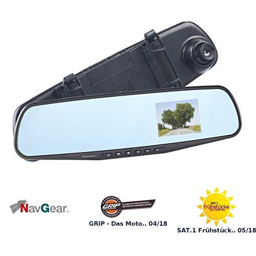 """NavGear Rückspiegel-Dashcam mit Bewegungserkennung und 7,1-cm-Display (2,8\"""")"""