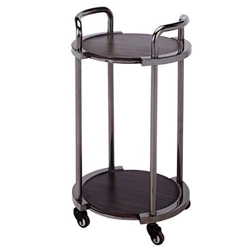 Chariot à vin de service,chariot en bois massif en métal, étagère pour organisateur de boissons à base de café et de thé, pour bar haut de gamme cuisine à domicile salle de bains 2 styles