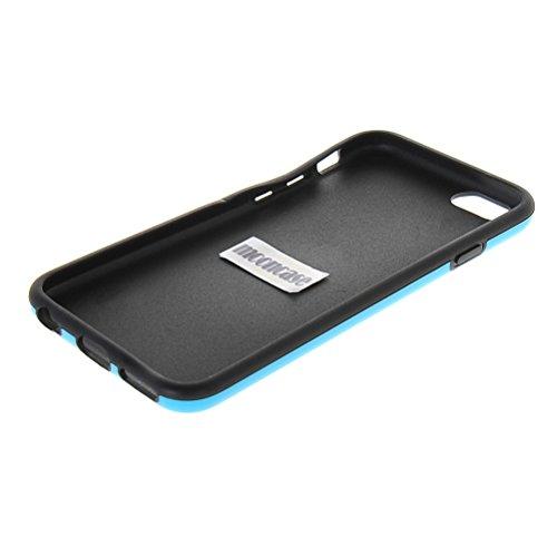 MOONCASE Gel TPU Housse Coque Etui Case Cover Pour Apple iPhone 6 ( 4.7 inch ) Noir Bleu Bleu