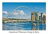 Scenic Fotos Gateshead Millennium Bridge & Baltischer Postkarte
