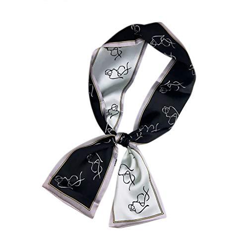TOPGKD Ins heißer Verkauf Mode Frauen Square Head Schal Wraps Schals gedruckt Halstuch Halstuch (B)
