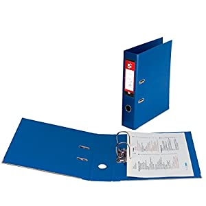 5 Star 913233 Lever Arch File PVC Spine 70mm Foolscap Royal Blue [Pack of 10]
