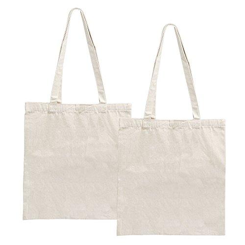 LEMESO 2 Bolsas de Lona para Compra Bolsas de Compra Reutilizables DIY Decoración