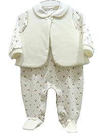 """Baby  Mädchen Body-Kleid /""""Bären/"""" 100/% Baumwolle Stickerei /& Applikation"""