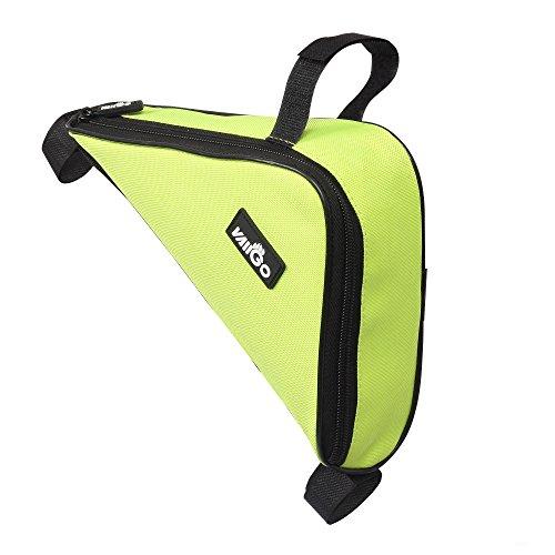 VAIIGO Outdoor Sport Triangle Rahmen Fahrrad Tasche Fahrrad-Rahmen tasche aus Nylon, verschiedene Farben Grün