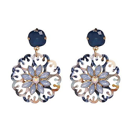 Presock Pendientes Mujer,Aretes 4 Colors Fashion Good Quality Women Statement Drop Earrings For Women Fashion Earring Wholesale Resin Oorbellen 50695-BU